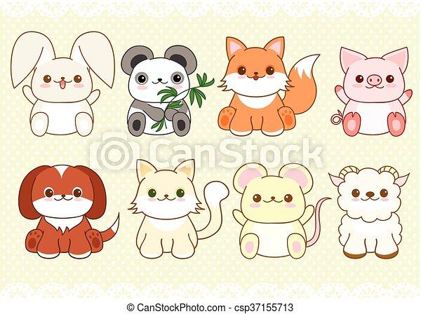 Kawaii Mignon Style Ensemble Animaux Bébé