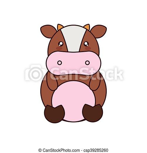 Kawaii Mignon Vache Animal Icône