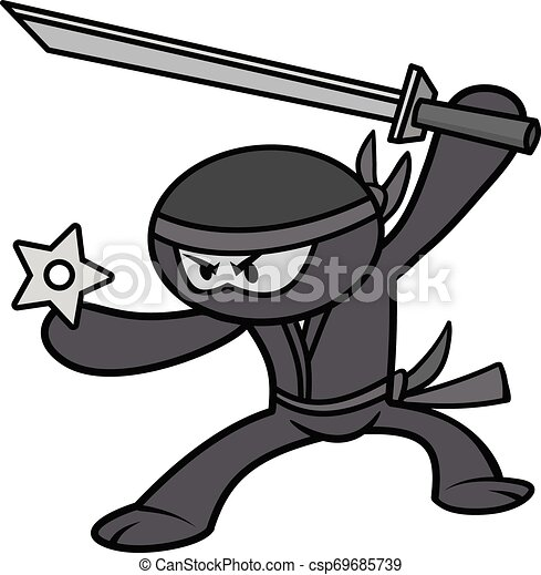Ilustración ninja Kawaii - csp69685739