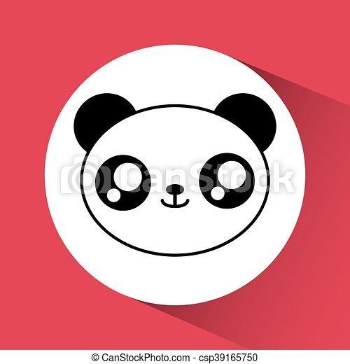 Kawaii Panda Icon Cute Animal Vector Graphic