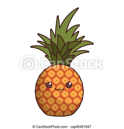 Kawaii Pineapple Fruit Icon