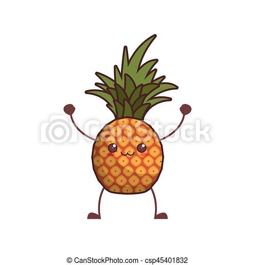 Kawaii Pineapple Fruit Image