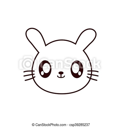 Voorkeur Kawaii, schattig, konijn, dier, pictogram. Kawaii, schattig #GI83