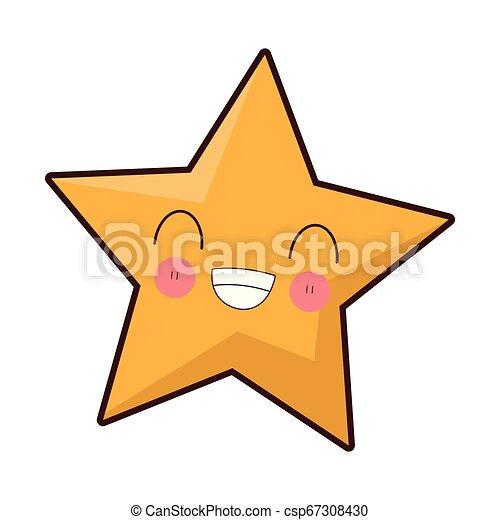 kawaii, sourire, étoile, dessin animé - csp67308430