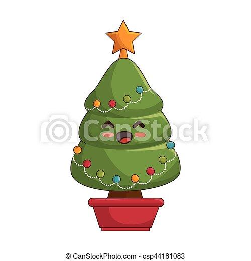 Immagini Natalizie Kawaii.Kawaii Stile Albero Natale Allegro Kawaii Stile Albero