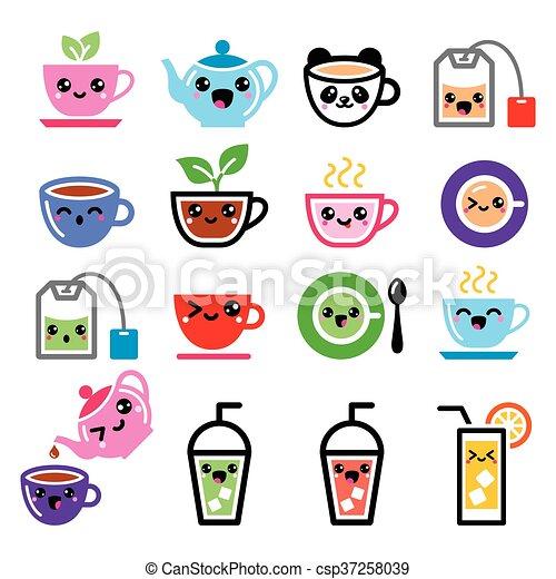 kawaii tea tea pot ice tea icons cute happy kawaii vector icons set tea isolated on white https www canstockphoto com kawaii tea tea pot ice tea icons 37258039 html