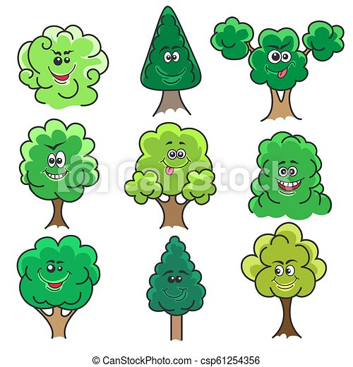 Kawaii Trees Set Kawaii Trees Sketch Cartoon Tree Set With Cute Smiles Vector Illustration Isolated On White Background Canstock Find images of cartoon tree. https www canstockphoto com kawaii trees set 61254356 html