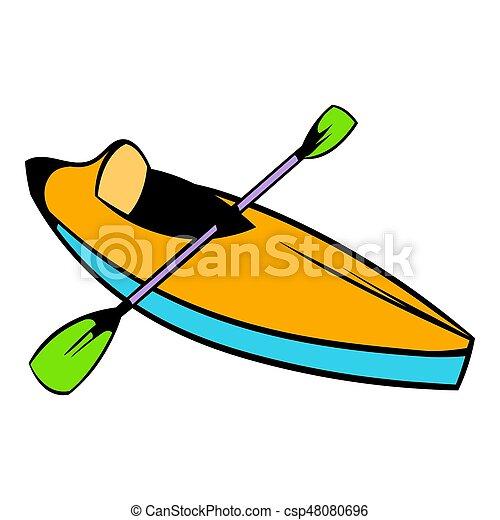 kayak icon icon cartoon kayak icon in icon in cartoon style