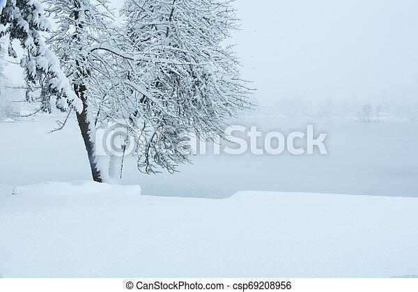 Kayak in the Snow - csp69208956