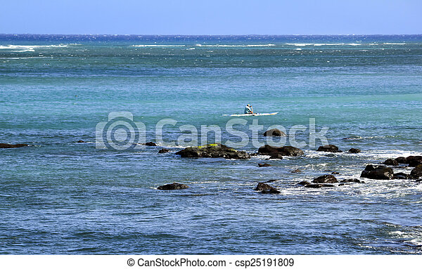 Kayak on the Pacific - csp25191809