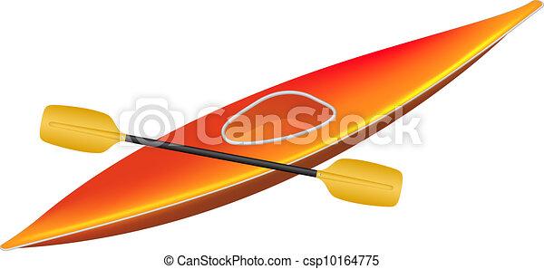 Kayak with paddle - csp10164775