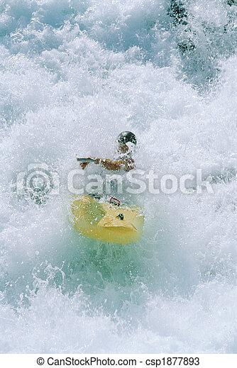 kayaking , νέοs άντραs , καταρράκτης  - csp1877893