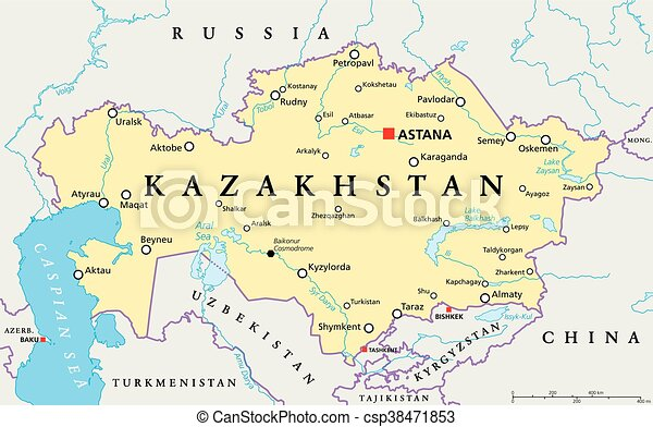 Kazakhstan political map kazakhstan political map with capital kazakhstan political map csp38471853 gumiabroncs Images