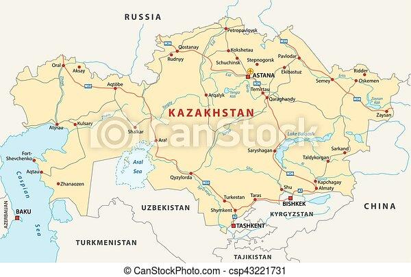 Kazakhstan road map.