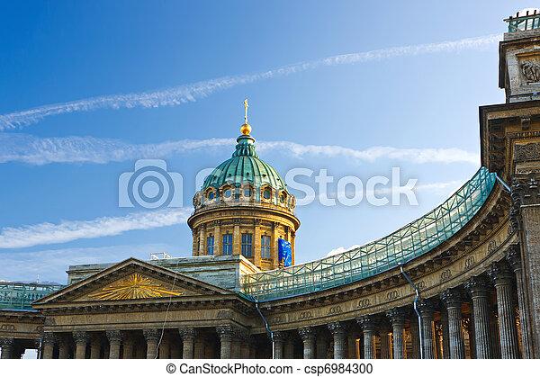 Catedral Kazan, St. Petersburg, Rusia - csp6984300