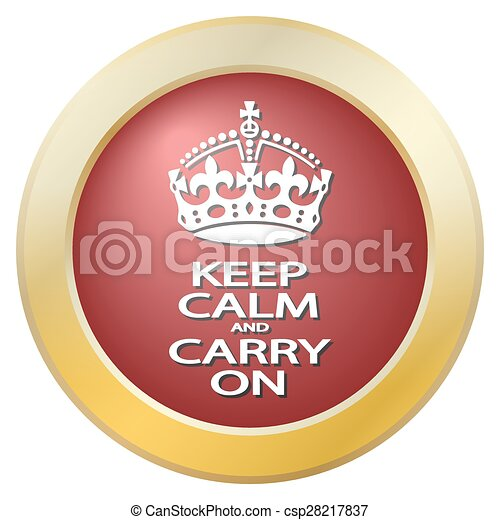 Keep Calm And Carry On Icon - csp28217837
