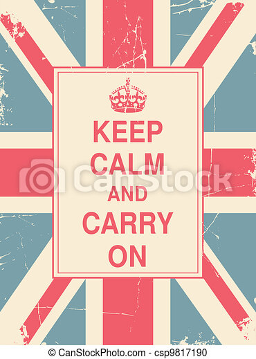 Keep Calm and Carry On Union Jack - csp9817190