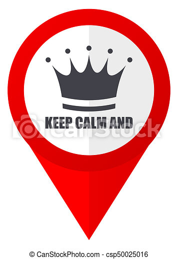 Keep Calm And Red Web Pointer Icon Webdesign Button On Clipart