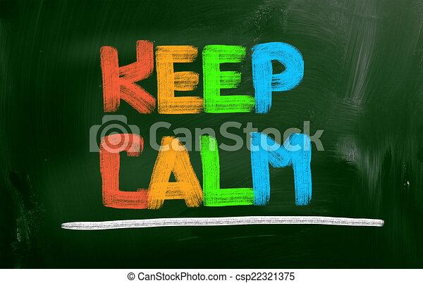 Keep Calm Concept - csp22321375