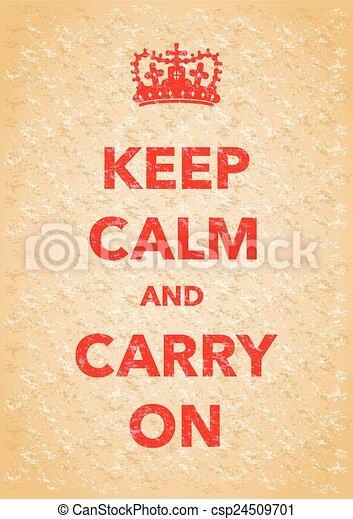 keep calm poster - csp24509701