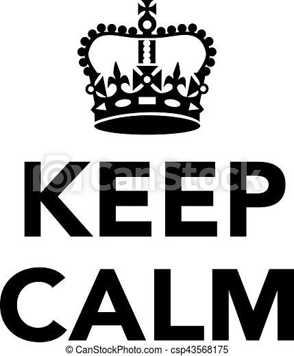 Keep Calm With Crown
