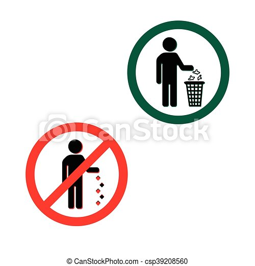 keep clean icons do not litter sign keep clean icons do not litter