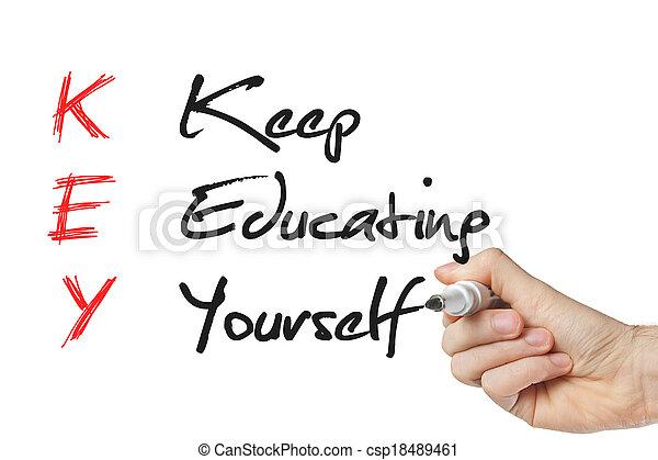 Keep education yourself - csp18489461