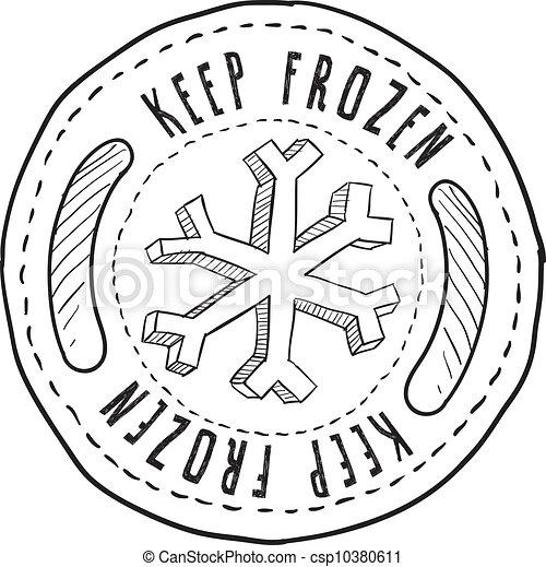 Keep frozen food label - csp10380611