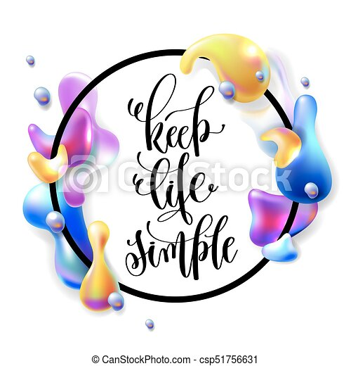 keep life simple hand lettering motivation and inspiration rh canstockphoto com motivation clipart motivated clipart