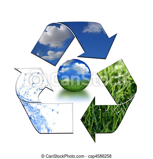 Keeping the Environment Clean With Recycling - csp4586258