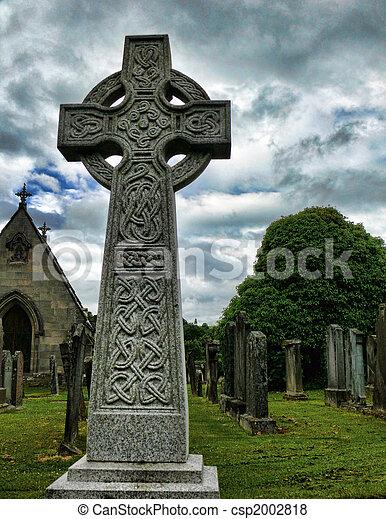 Celtic Cross Near Keith, Scotland