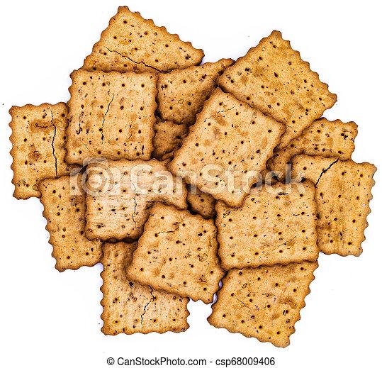 kekse, weißes, haufen - csp68009406