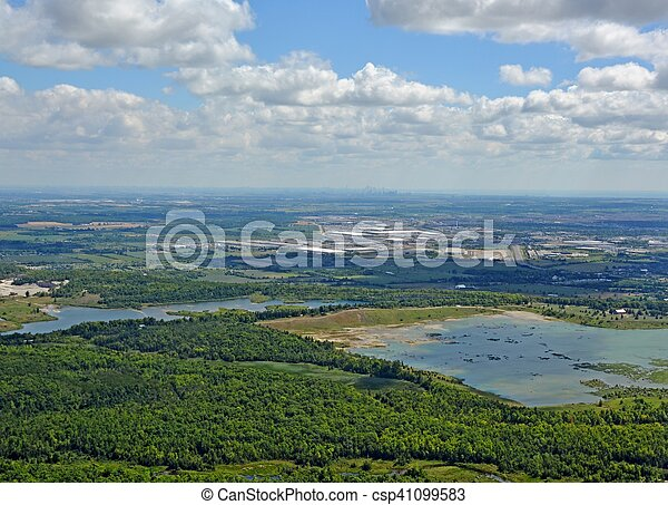 Kelso Conservation Area, aerial - csp41099583
