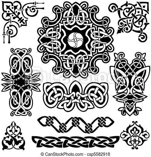 keltisch, vector, art-collection. - csp5582918