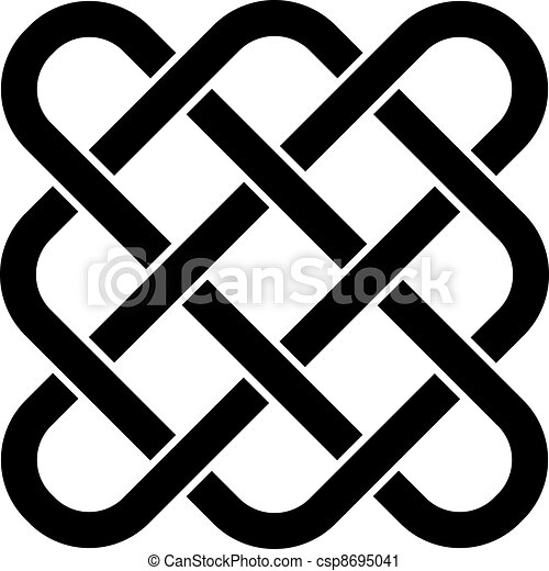 keltisch, vector, knoop, eindeloos - csp8695041