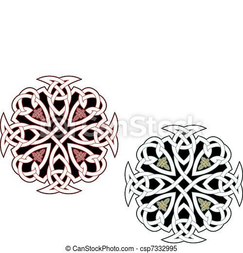keltisch, verzierungen - csp7332995
