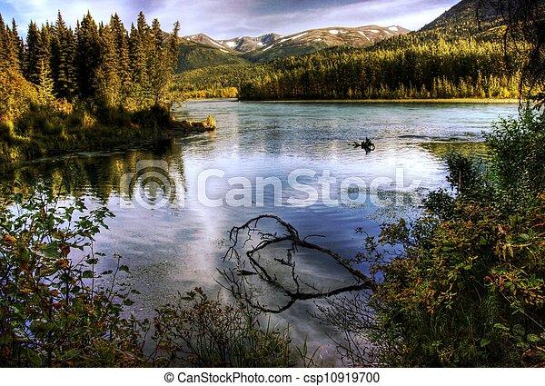Kenai River in Fall - csp10919700