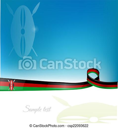 Kenia-Flagge - csp22093622