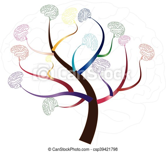 kennis, medisch, illustratie, boompje, psychologisch, hersenen, concept, of, milieu - csp39421798