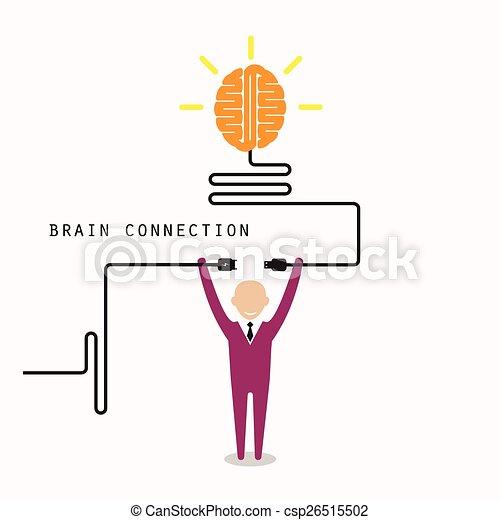 Kenntnis, licht, symbol, idee, kreativ, anschluss,... Vektor Clipart ...