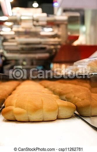 kenyér, egyenes, termelés, sült - csp11262781