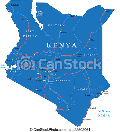Kenya map - csp22502064