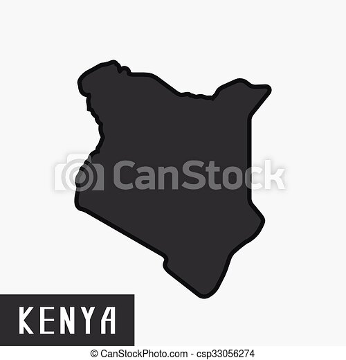 kenya map. - csp33056274