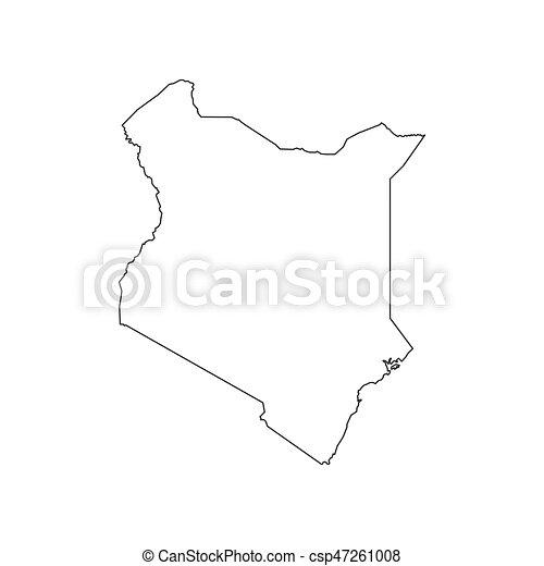 Kenya map silhouette - csp47261008