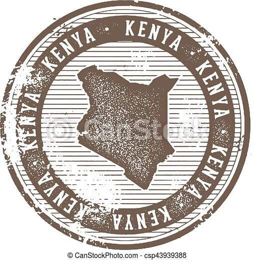 Kenya Vintage Country Stamp for Tourism - csp43939388
