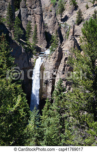 Keplar cascades in Yellowstone National Park, Wyoming - csp41769017