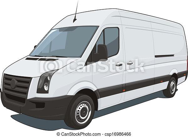 kereskedelmi, furgon - csp16986466