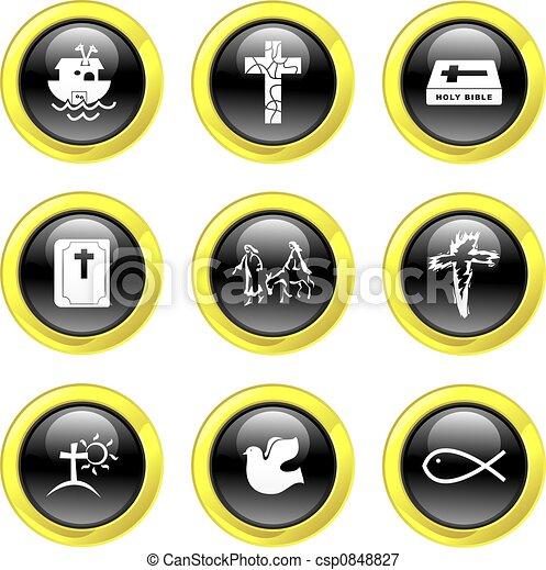 keresztény, ikonok - csp0848827