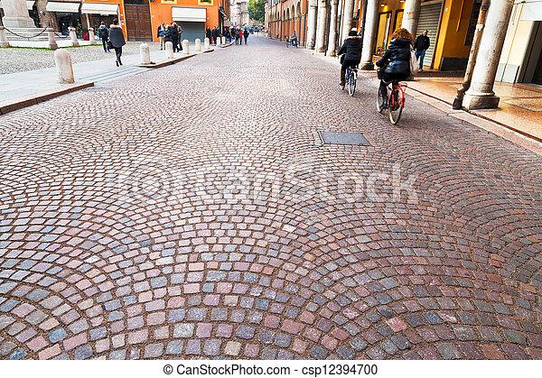 keresztül, olaszország, modena, -, utca, emilia, ősi - csp12394700