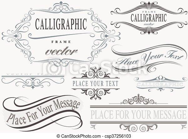 keret, calligraphic - csp37256103